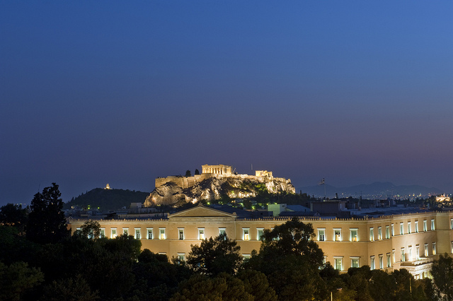 Acropolis and the Greek Parliament